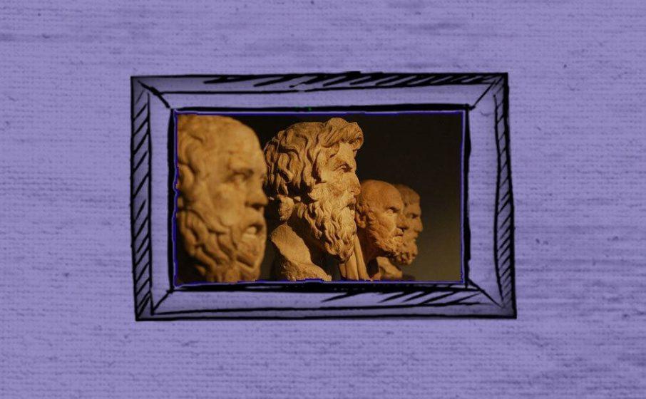 Statue griechischer Philosoph