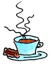 kaffeetasse dampfend