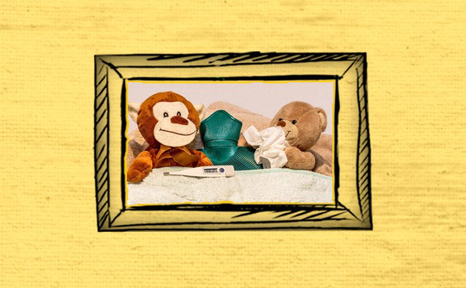 Teddybär Schnupfen