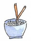 Reis mit Stäbchen