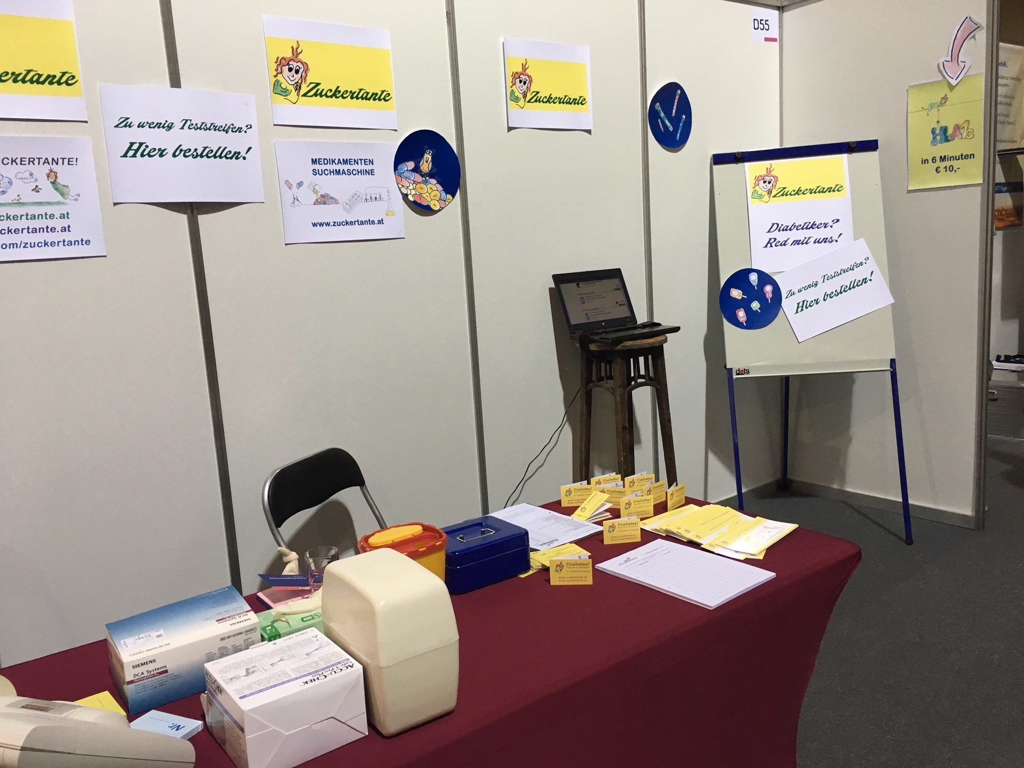 Messestand fertig