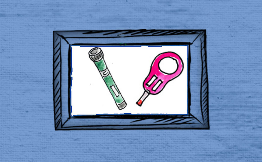 Insulin Pen und Messgerät