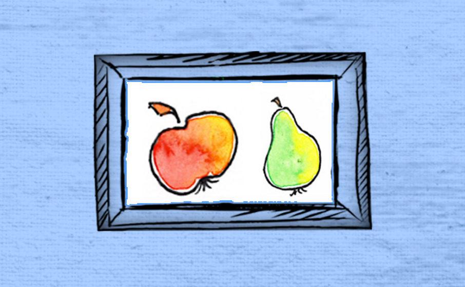 Apfelform und Birnenform