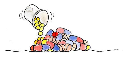 Tabletten-Haufen