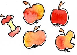 5 Äpfel