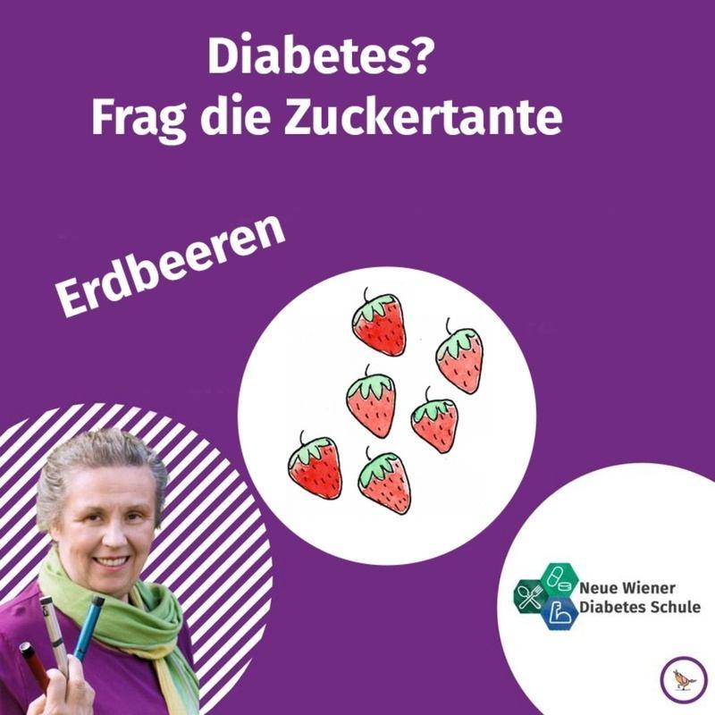 Titelbild Podcast Zuckertante Erdbeeren